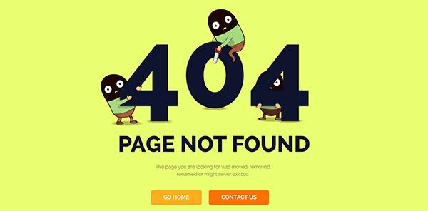 404页面的设计注意事项